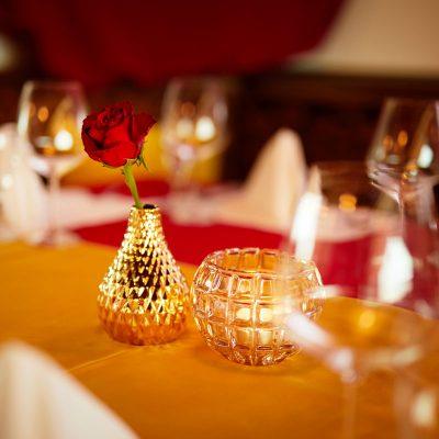 Taj Mahal Restaurant Tischdeko